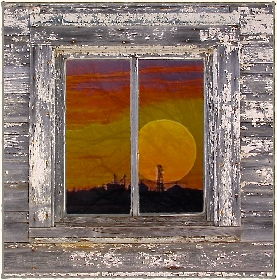 SCENIC-SUNSET IN WINDOW