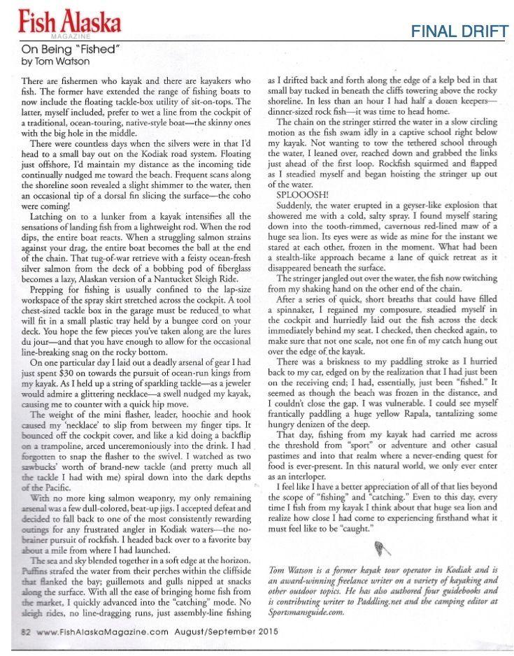 ARTICLE-FISH ALASKA-FINAL DRIFT