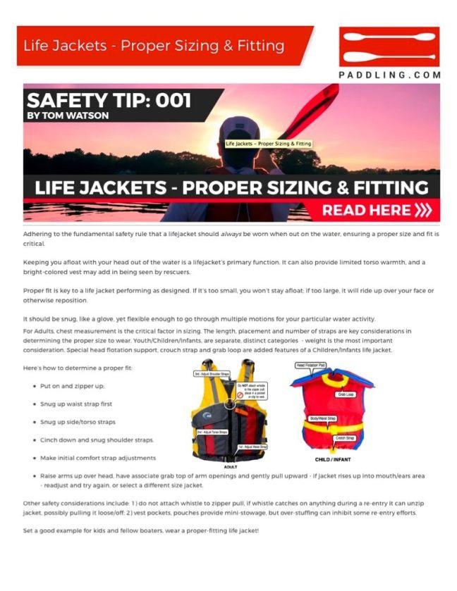 PADDLING.COM-SAFETY TIP-LIFE JACKET FIT