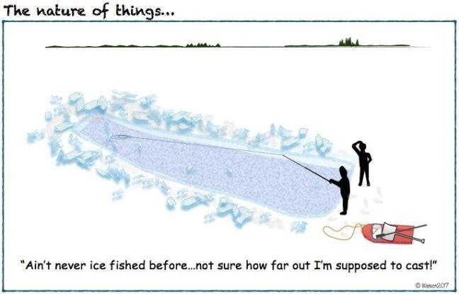CARTOON-ICE FISHING TRENCH