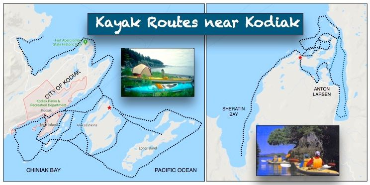 KAYAK ROUTES-CITY OF KODIAK