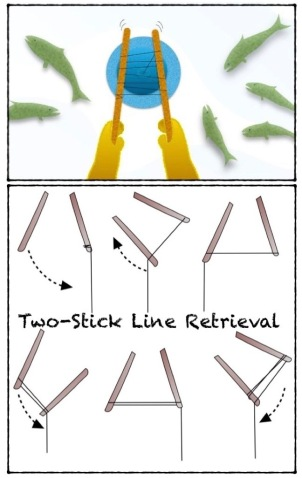 ILLUST-FISH-NATIVE-TWO STICK METHOD